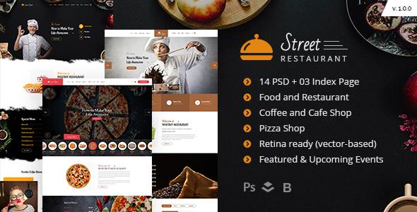 Street Restaurant PSD Template