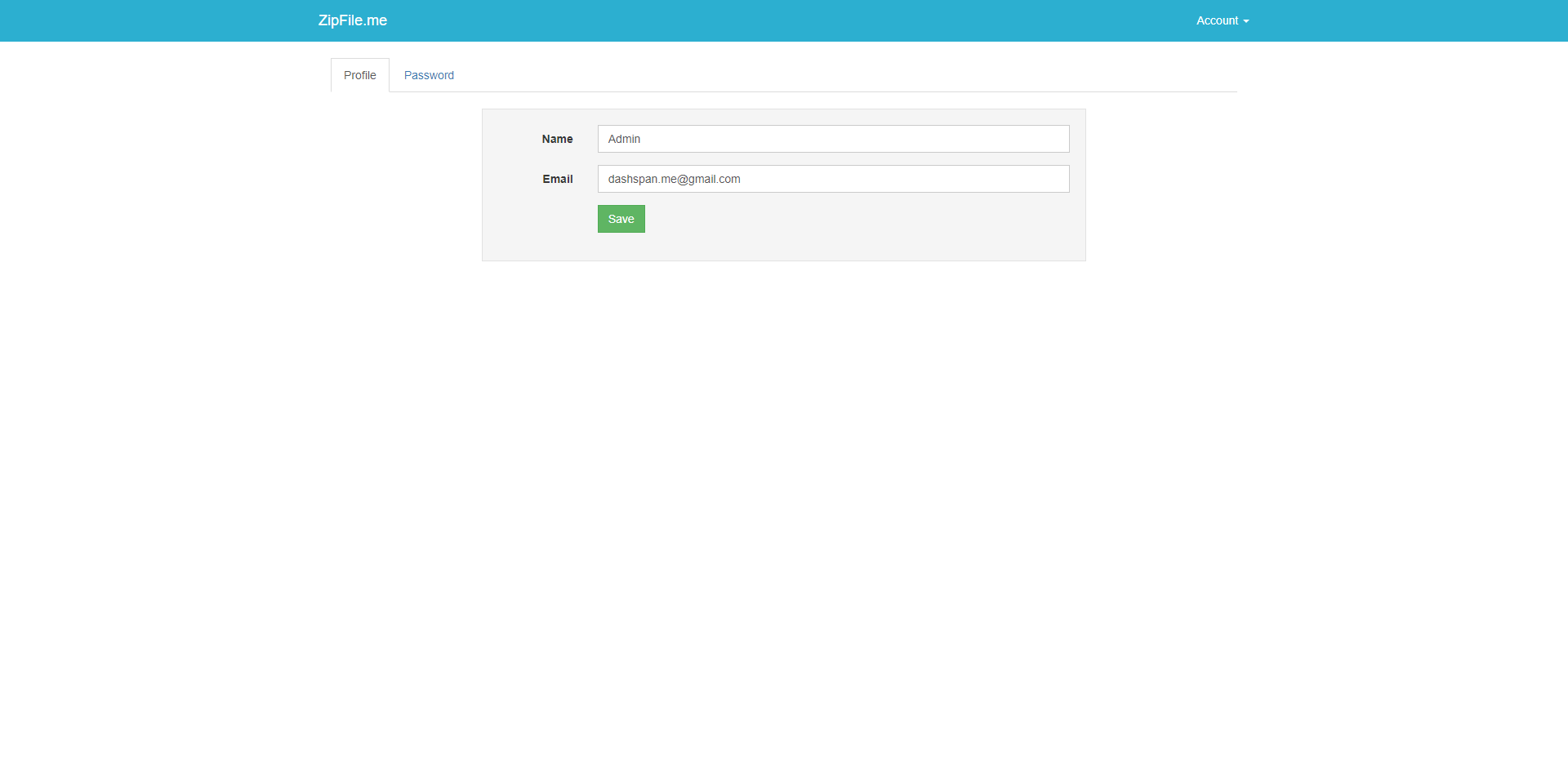 ZipFileMe : Secure and Easy File sharing