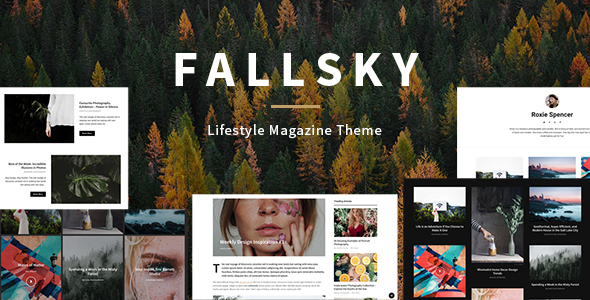 Fallsky – Lifestyle Magazine Theme with Shop