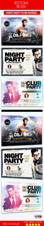 DJ Flyer Bundle - Clubs & Parties Events