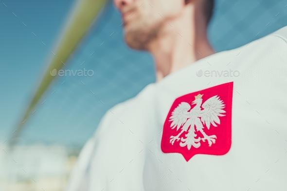 Polish Player Eagle Emblem - Stock Photo - Images