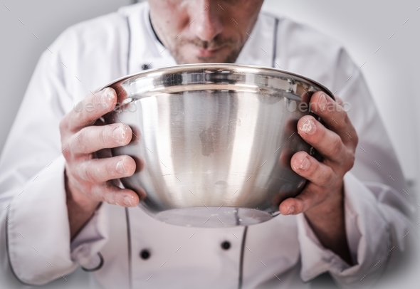 Food Preparation by Chef - Stock Photo - Images