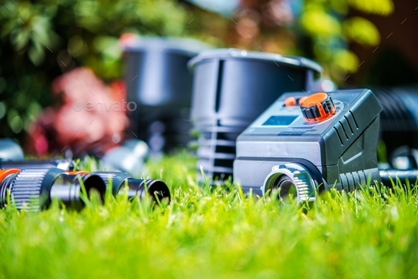 Garden Watering System - Stock Photo - Images