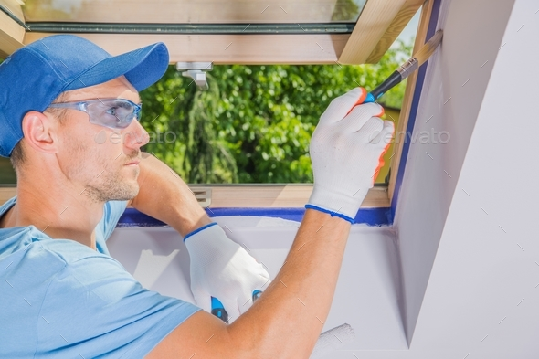 Men Painting His Room - Stock Photo - Images