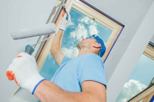 Painting Newly Constructed - Stock Photo - Images