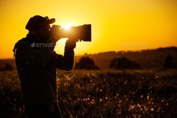 Passionate Outdoor Photographer - Stock Photo - Images