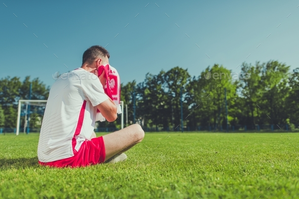 Crying Football Fan - Stock Photo - Images