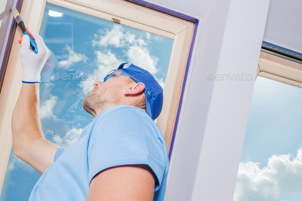 Room Painting by Men - Stock Photo - Images