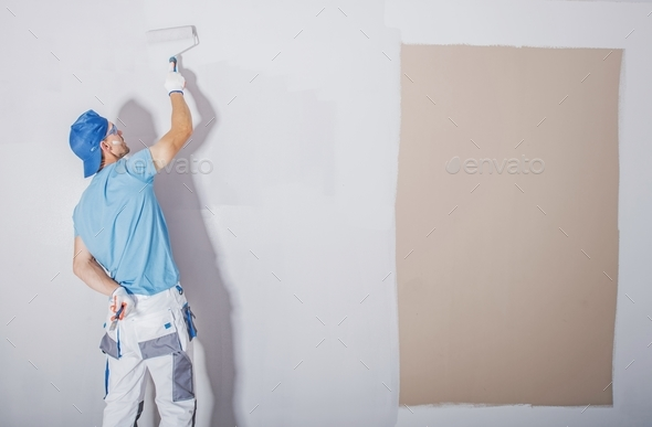 Room Painter at Work - Stock Photo - Images