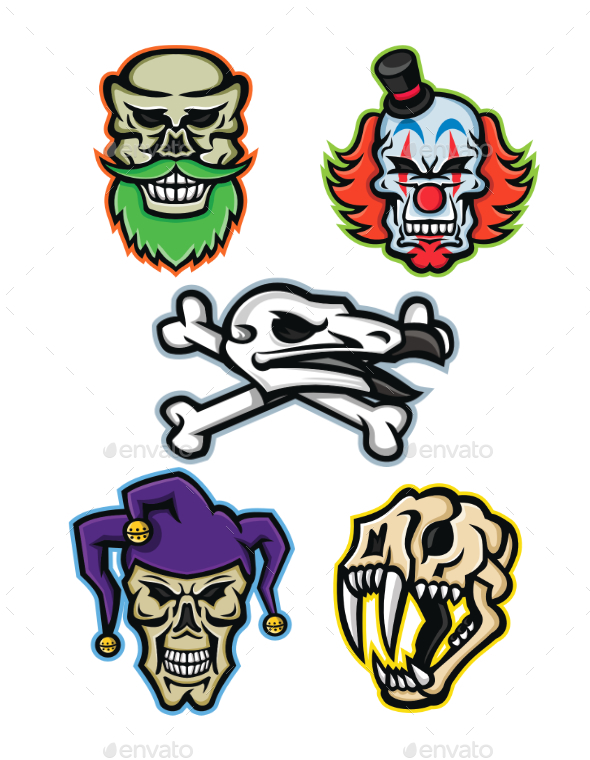 Skulls and Bones Mascot Collection - Miscellaneous Characters