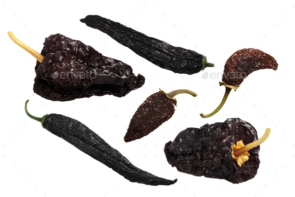 Dried mexican chile peppers - Stock Photo - Images