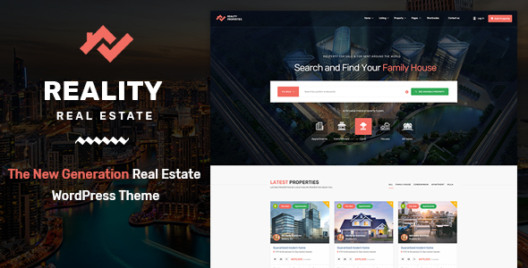 reality | real estate wordpress theme (real estate) Reality | Real Estate WordPress Theme (Real Estate) 01 preview wp