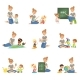 Boys and Girls Playing and Studying - GraphicRiver Item for Sale