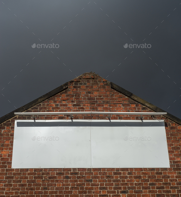 Black Factory Billboard - Stock Photo - Images