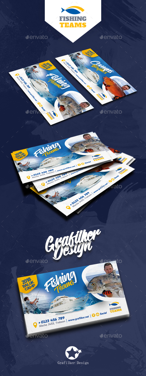 Fishing Tour Business Card Templates by grafilker | GraphicRiver