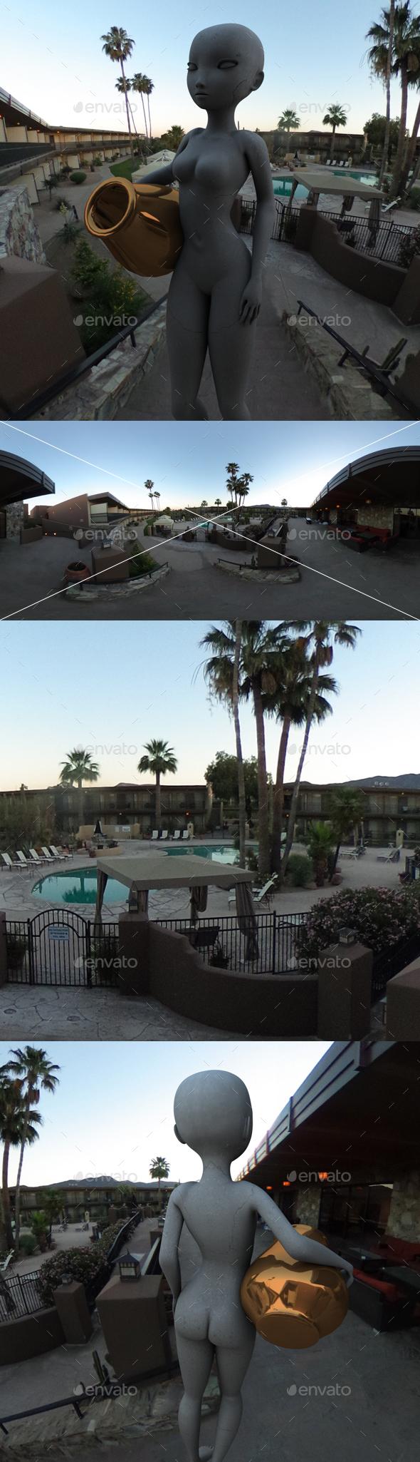 Morning Arizona Hotel HDRI - 3DOcean Item for Sale
