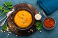 Hummus. Fresh homemade hummus with paprika - PhotoDune Item for Sale