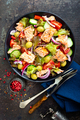 Salad with fish. Fresh vegetable salad with salmon - PhotoDune Item for Sale