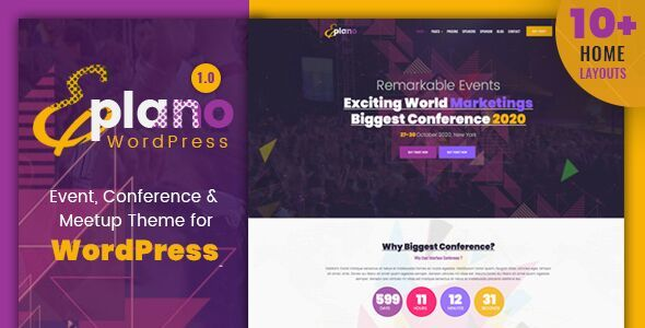 Eplano - Event and Conference WordPress Theme Free Download | Nulled
