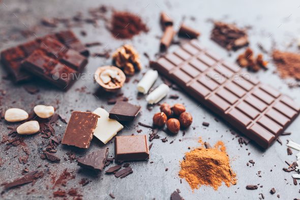 Delicious and tasty chocolate background - Stock Photo - Images