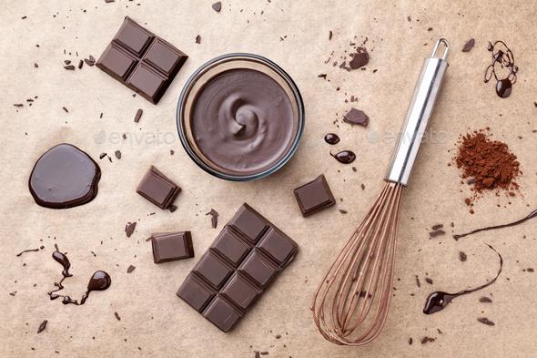Delicious dark chocolate - Stock Photo - Images