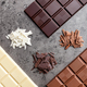 Delicious variety of chocole on rustic background - PhotoDune Item for Sale