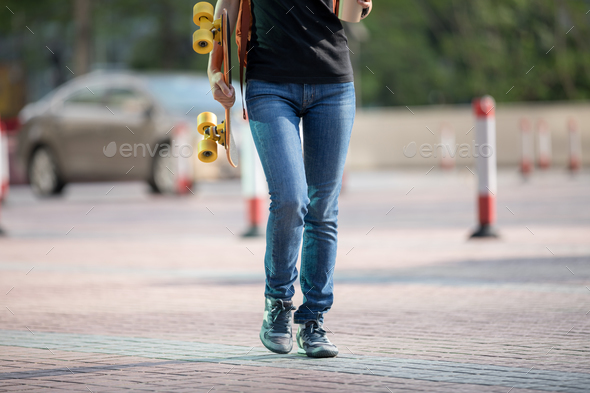 Walking in city - Stock Photo - Images