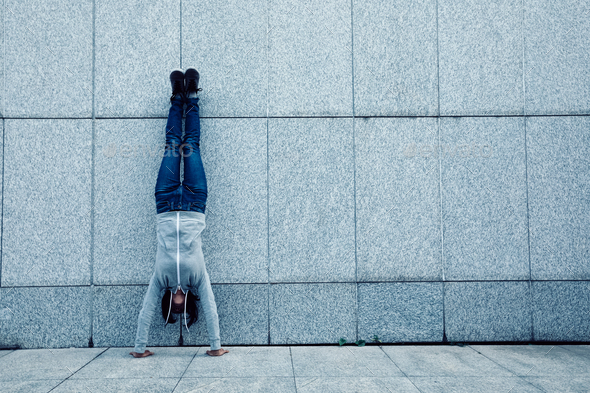 Handstanding  - Stock Photo - Images
