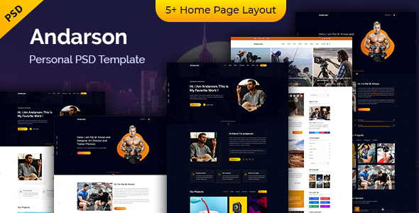 Andarson – Personal PSD Template