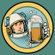 Astronaut with a Mug of Beer - GraphicRiver Item for Sale