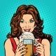 Woman with a Mug of Beer - GraphicRiver Item for Sale