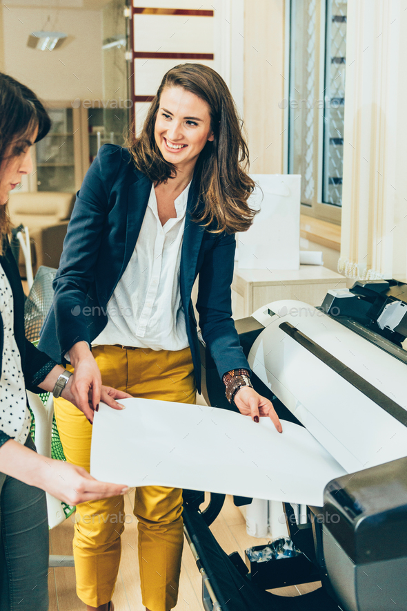 Architects printing project - Stock Photo - Images