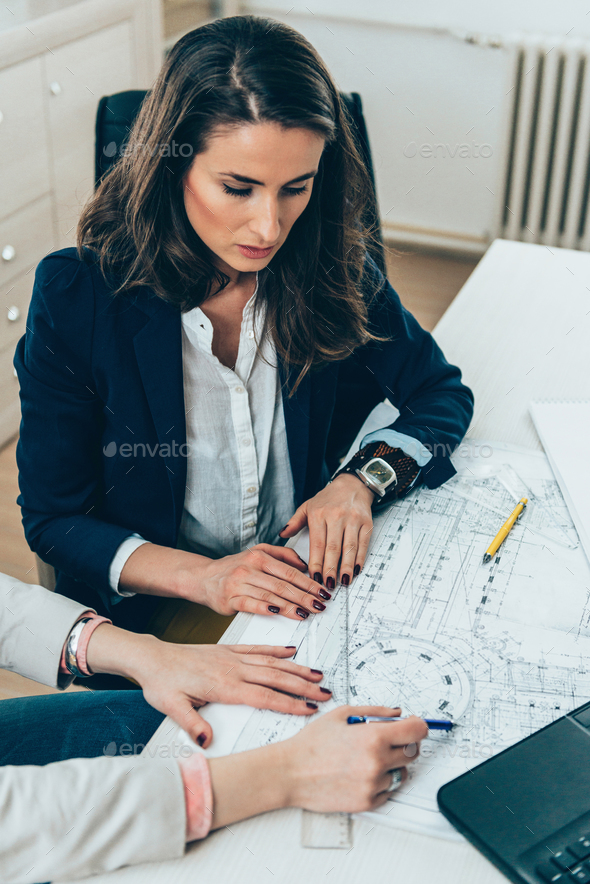 Architects on meeting in office - Stock Photo - Images
