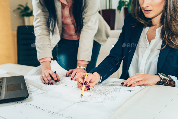 Architects examining project - Stock Photo - Images
