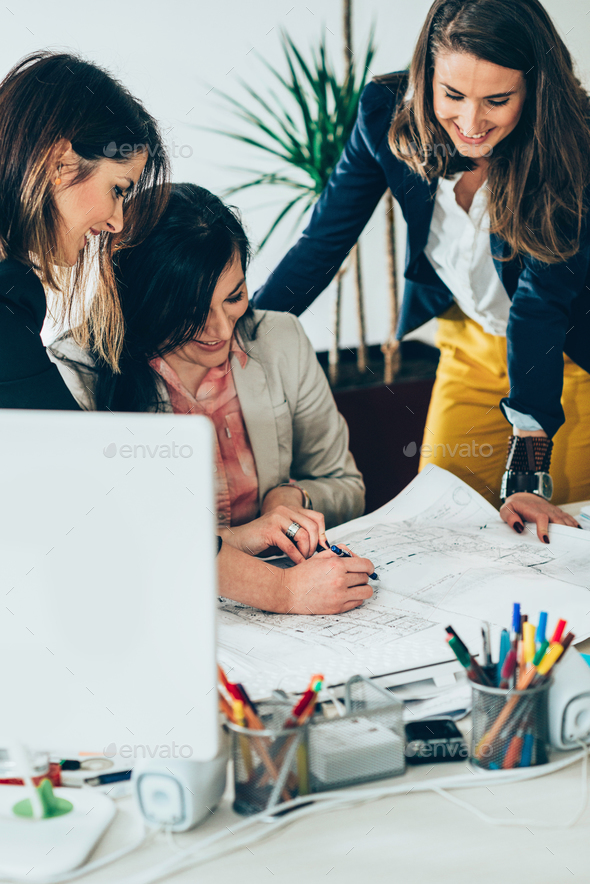 Architects in office - Stock Photo - Images