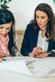 Architects examining plans - PhotoDune Item for Sale