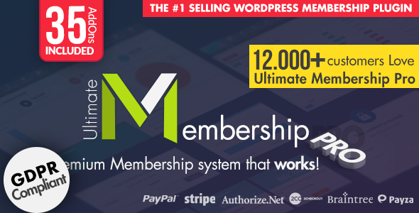 Ultimate Membership Pro - WordPress Membership Plugin - CodeCanyon Item for Sale