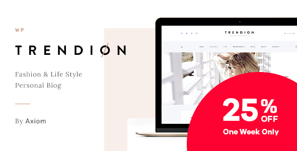 Trendion | Personal Lifestyle Blog and Magazine WordPress Theme - Blog / Magazine WordPress