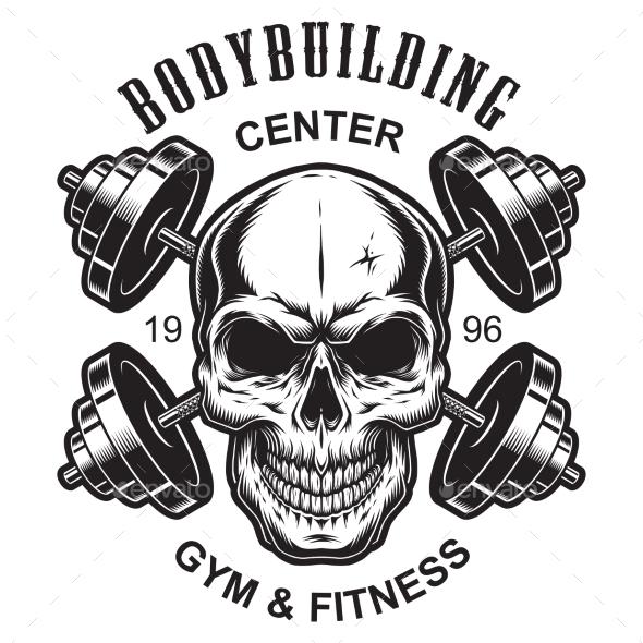 Monochrome Fitness Logo Template - Miscellaneous Vectors
