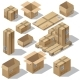 Vector Isometric Set of Cardboard Packaging - GraphicRiver Item for Sale