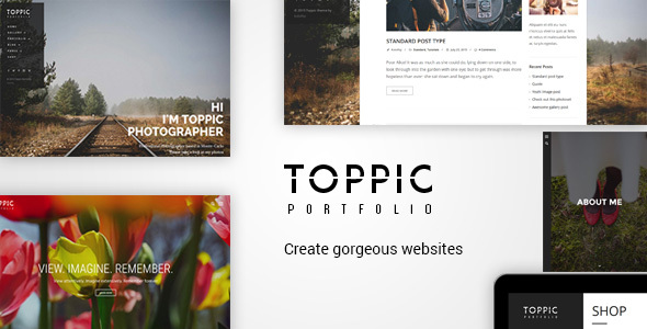 TopPic Photography - Photography WordPress - Photography Creative