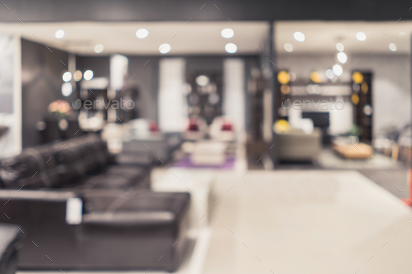 Abstract blurred image of furniture store interior - Stock Photo - Images
