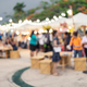 Abstract blurred image of people walking at the night market - PhotoDune Item for Sale