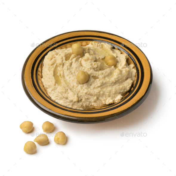 Traditional Lebanese hummus - Stock Photo - Images