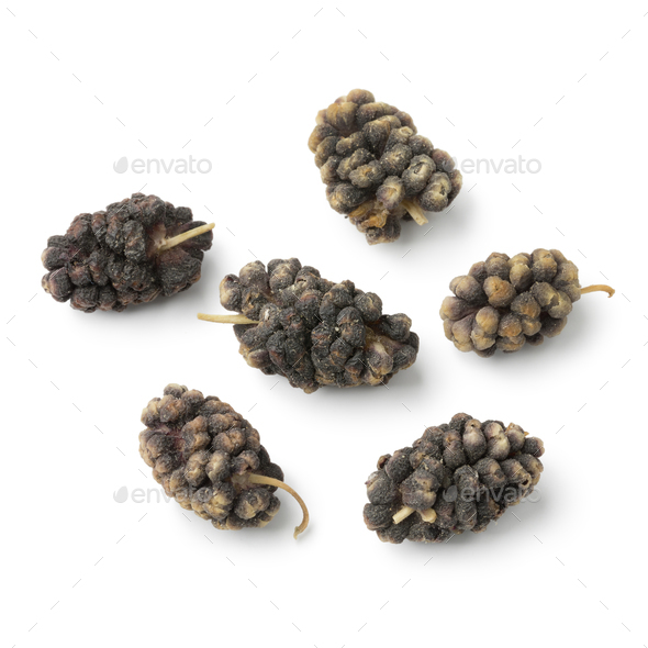Dried black mulberries close up - Stock Photo - Images