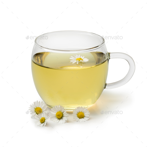Cup of healthy daisy tea - Stock Photo - Images