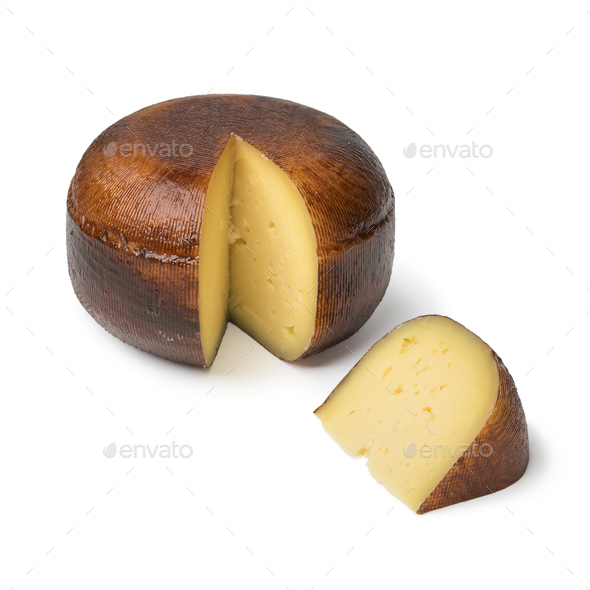 Traditional old Dutch mature Gouda cheese - Stock Photo - Images