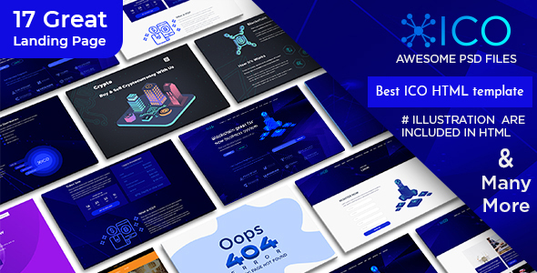 Avabil ICO – Blockchain and Cryptocurrency Landing Page HTML Template