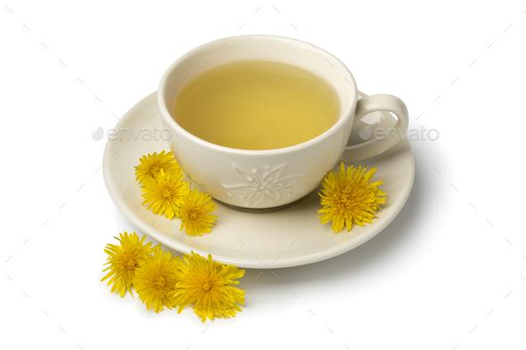 Cup of healthy dandelion tea - Stock Photo - Images