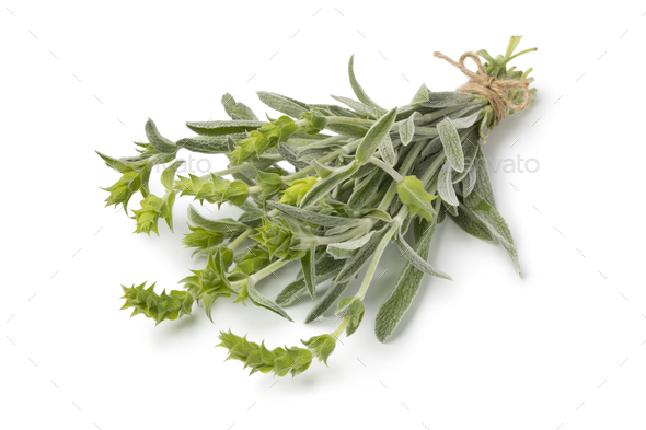 Bunch of fresh green ironwort - Stock Photo - Images